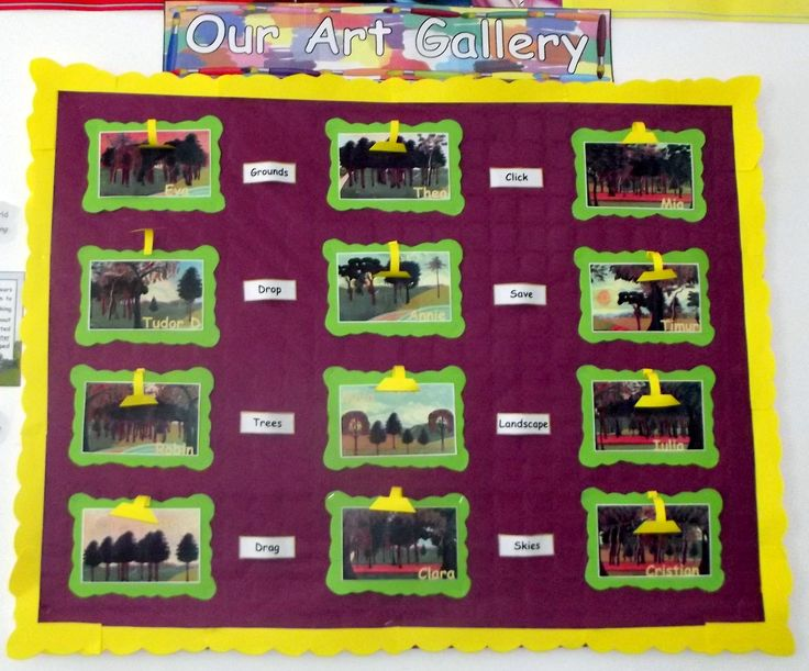 School Years ICT display Art Gallery @Acorns Nursery Bucharest