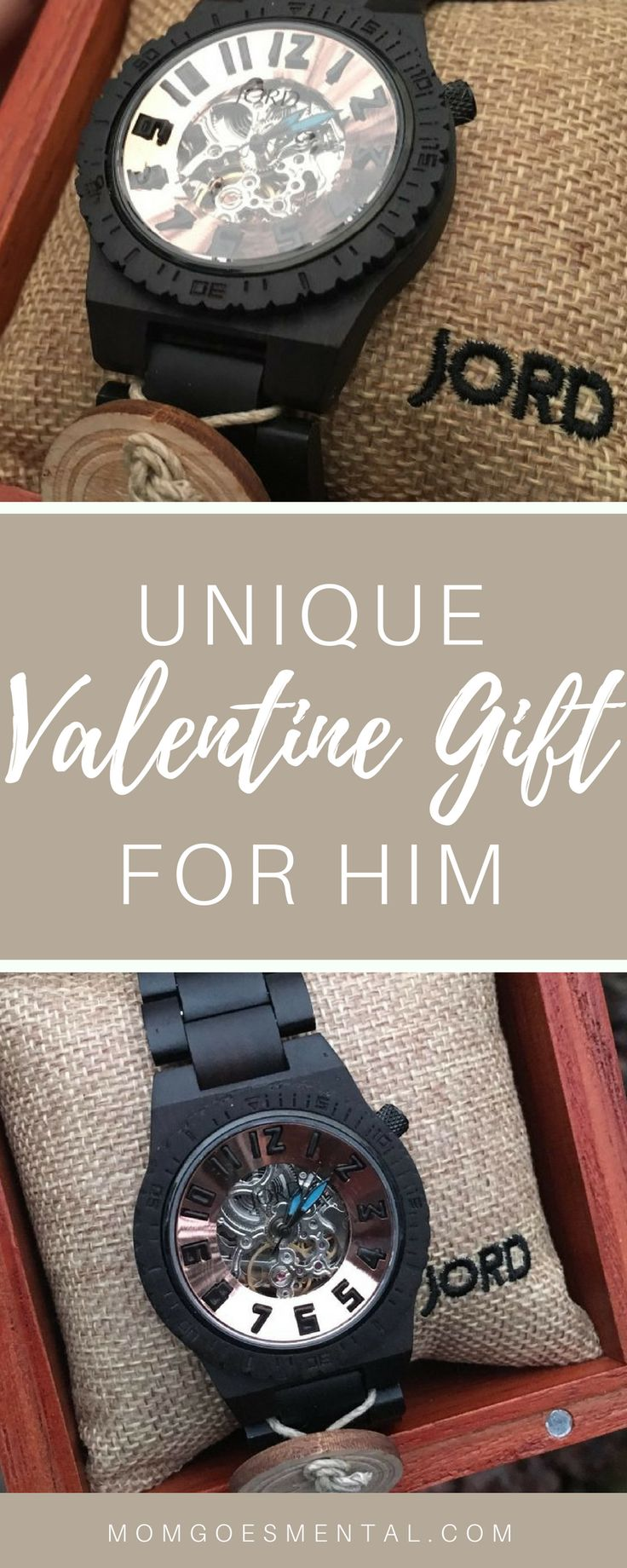 Valentine Gift Ideas for Men - Check out this unique wooden watch from JORD watches! Perfect as an edgy valentine's day gift. >> https://www.pinterest.com/jordwoodwatches/ #jorddover #jordwatches #jordwatch via @momgoesmental