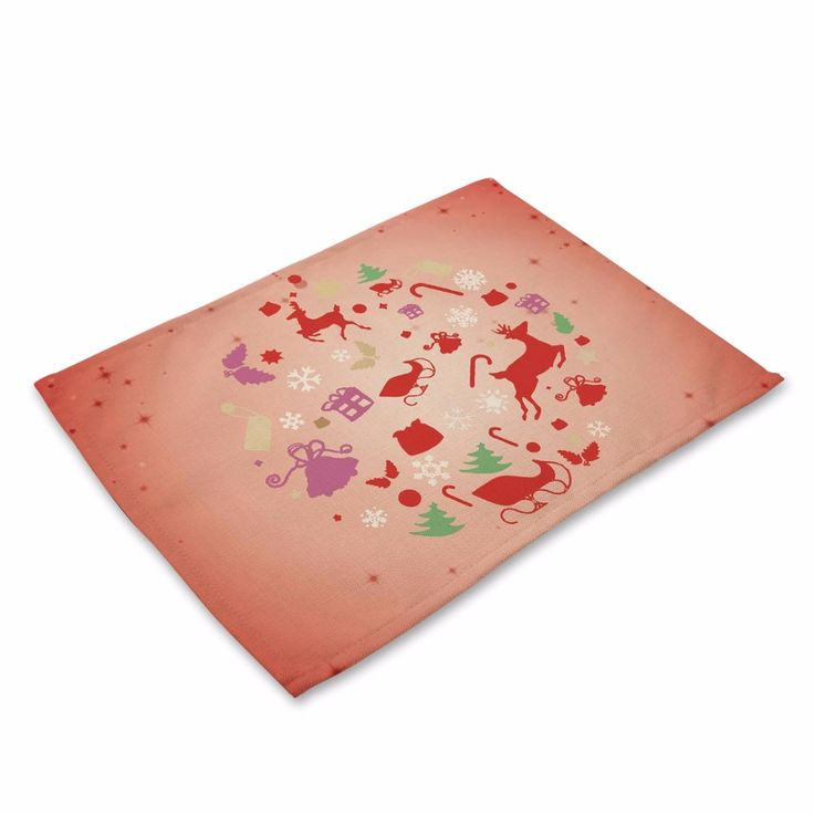 Christmas Table Mat Christmas Placemat Santa Claus Table Napkin For Wedding Dining Accessories Table Mat Kitchen. Click visit to buy
