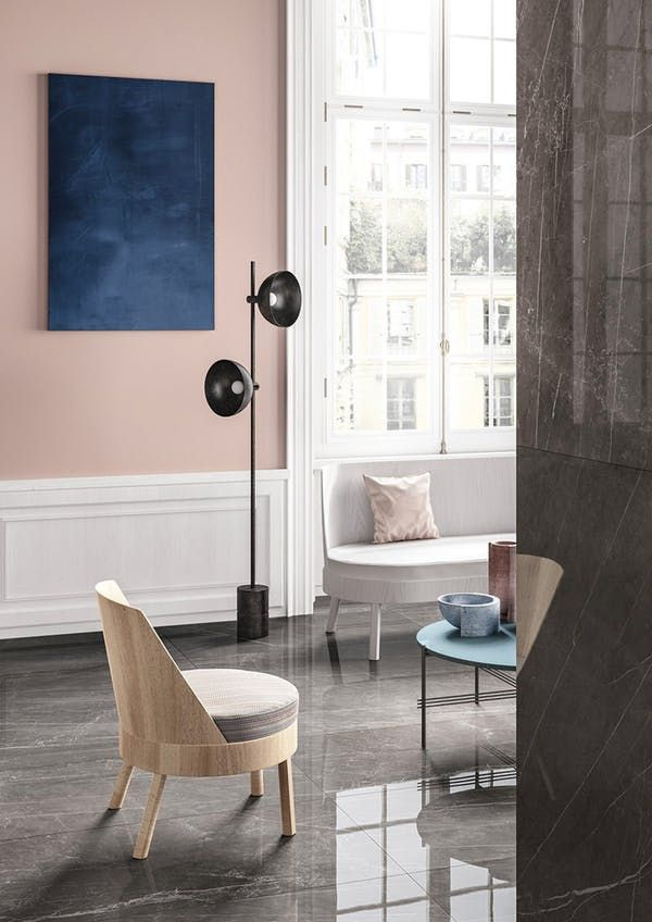 Color Trend: How to Decorate with Blush Pink & Dark Blue | Apartment Therapy