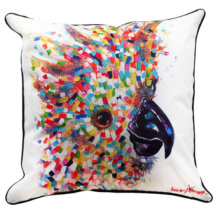 Sulphur Crested Cockatoo Indoor/Outdoor Cushion Cover