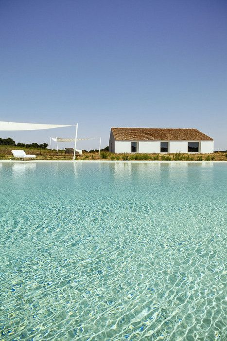 Portugal's Beautiful #Alentejo Region Has It All :  The zero-entry #swimming pool at Casa No Tempo.- via Condé Nast Traveler 07.03.2015 | Written by Guy Trebay, Photographed by Matthieu Salvaing | Photo: