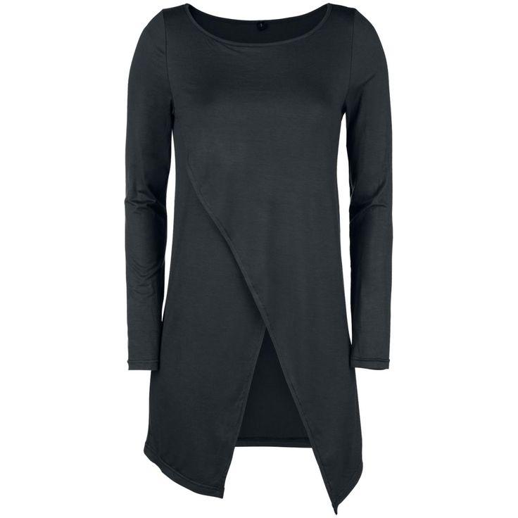Forplay - Long Asymetric Lonsleeve  - naisten pitkähihainen paita - venepääntie - epäsymmetrinen etuosa