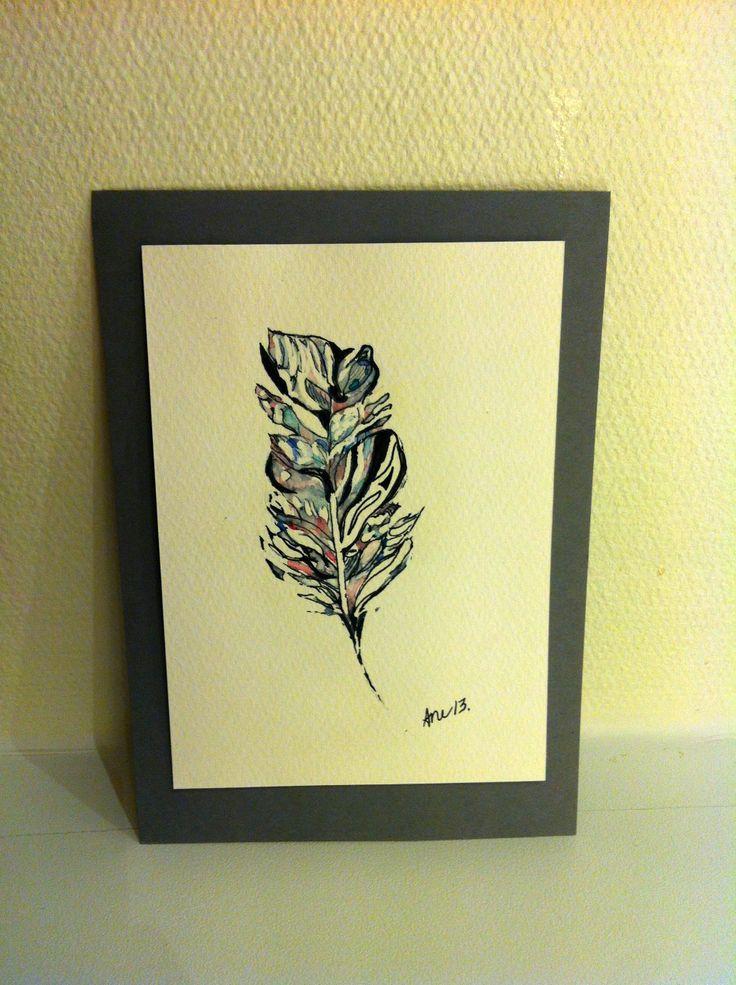 "Akvarell ""Feather"""