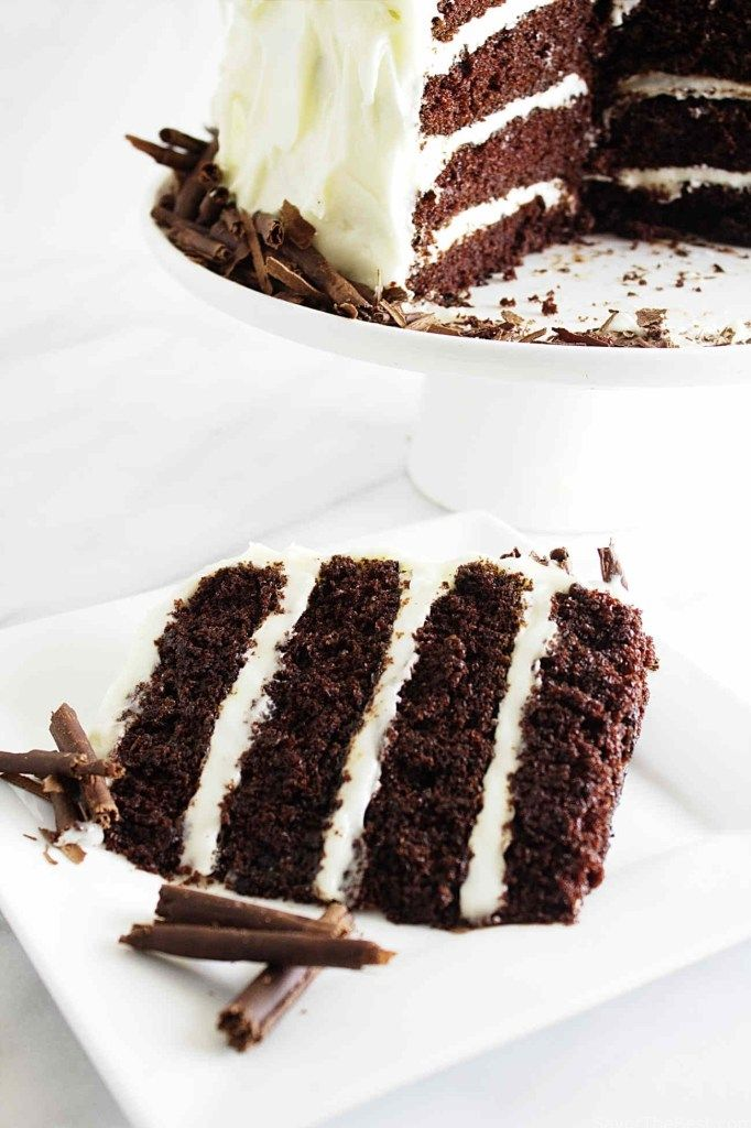 Intense Chocolate Cake With Cream Cheese Frosting Receita