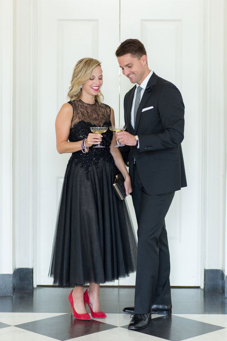 Rent the Runway Dress for a Black Tie Optional Wedding, Men's Suit for a Wedding // Photo by Jennifer Kathryn Photography