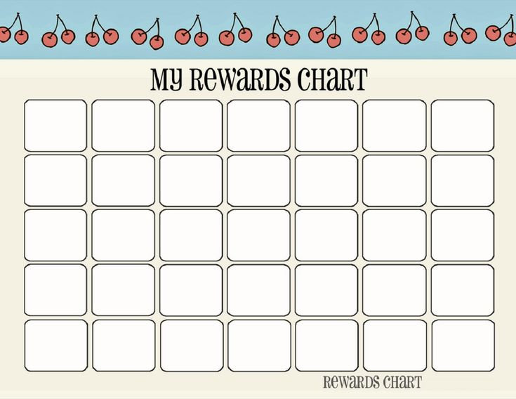 25 best ideas about Reward chart template – Child Reward Chart Template