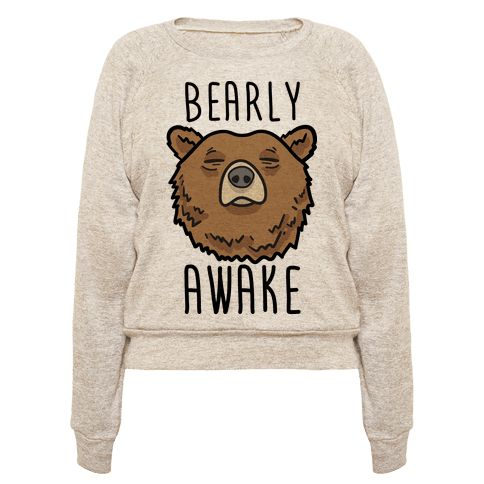 "This lazy bear design features the animal pun ""Bearly Awake"" with an illustration of a sleep bear. Perfect for a bear lover, sleep lover, napper, lazy day, nap time, sleep quotes, lazy quotes, tired jokes, feeling sleepy and needing more sleep!"