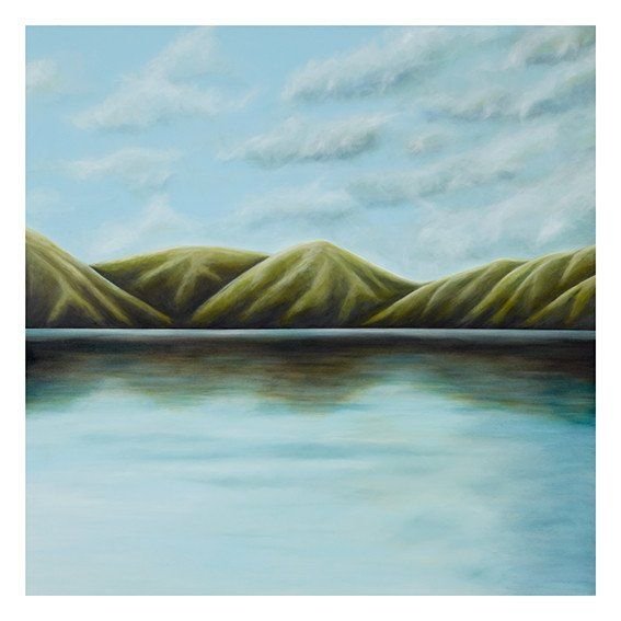 Homecoming II. Giclee print on Hahnemühle archival paper. Limited edition of 100. Landscape, Seascape, Hills and Sea. Juliet Best Art Prints, Wellington, New Zealand, NZ.