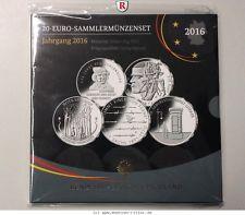 RITTER BRD, 5x 20 Euro 2016, Rotkäppchen, Sachs, Litfaß, Dix, Deutschlandlied,PP #coins