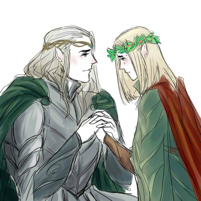 I will be back soon child of mine (Oropher and Thranduil)