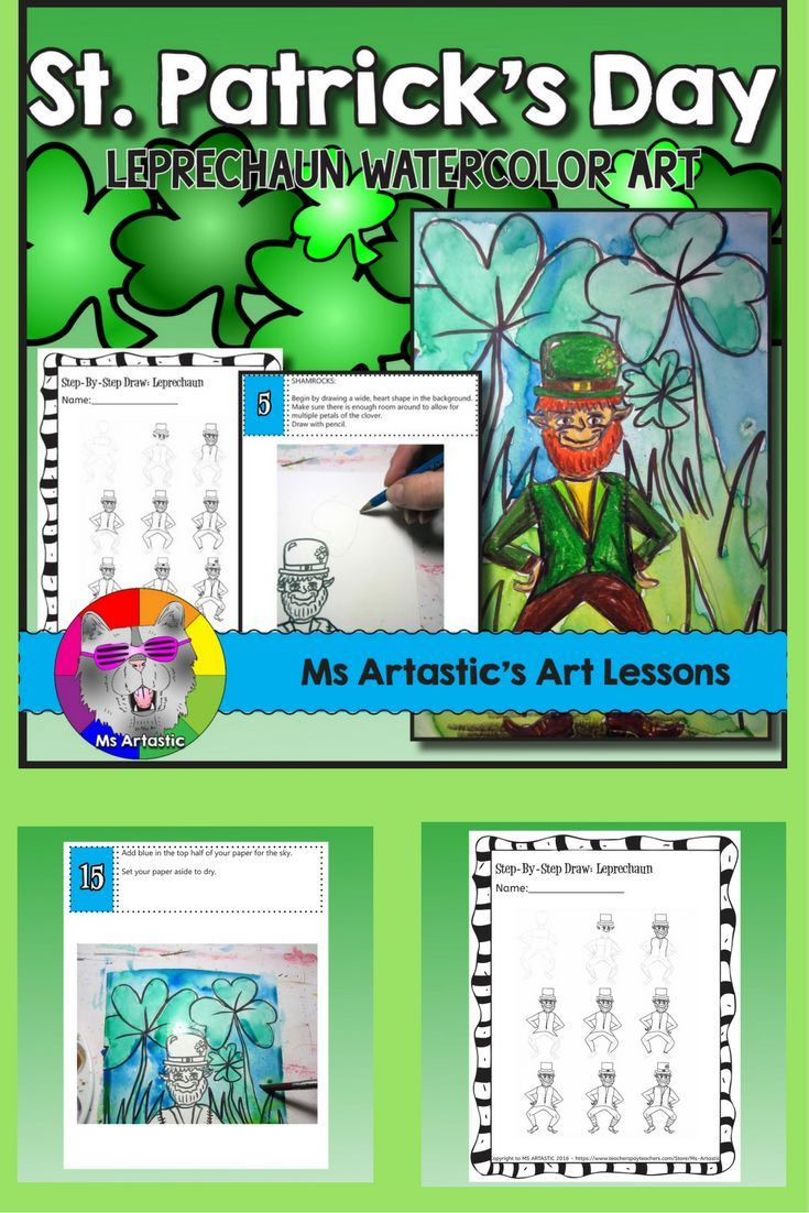 Students will use their imagination to create a St. Patrick's Day Leprechaun art piece using watercolor paint and pencil crayon. Your students will really love this! This product is complete with a visual and text step-by-step (each step on its own page with description and a picture), a rubric for marking, an example of a finished piece, and a step-by-step how to draw the leprechaun to allow your students to create this piece successfully!