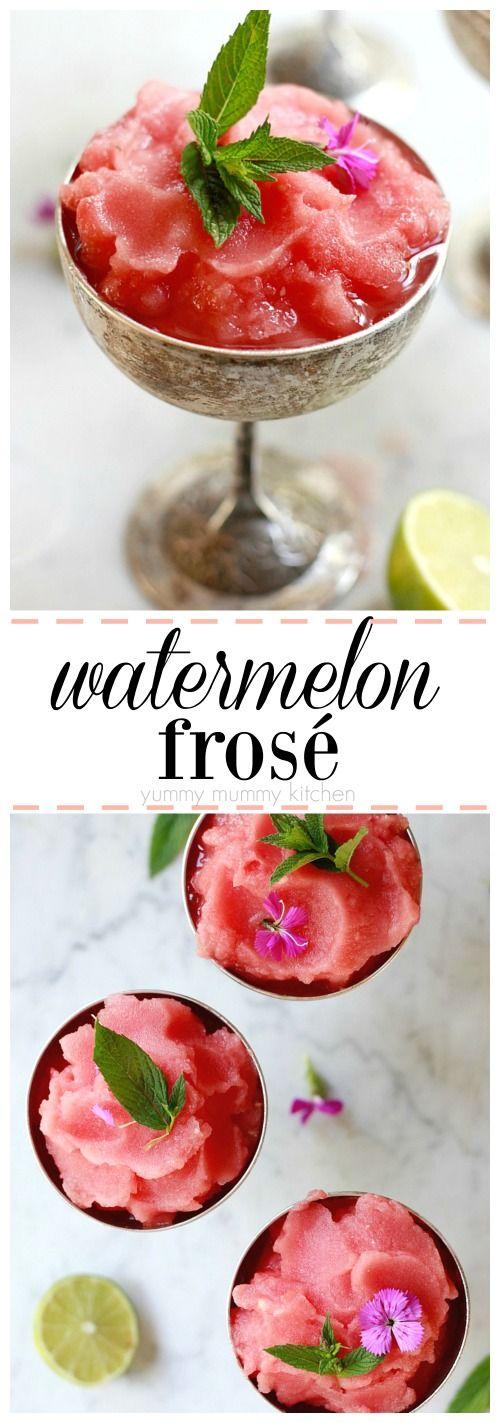 Watermelon Frosé (Frozen Rosé). This easy frosé recipe is the best summer wine cocktail.