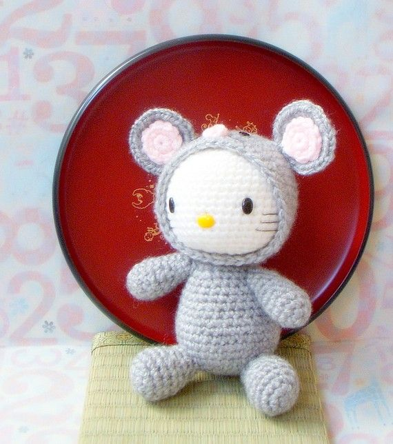 Crochet amigurumi Pattern - Zodiac Rat Kitty - amigurumi doll pattern ...