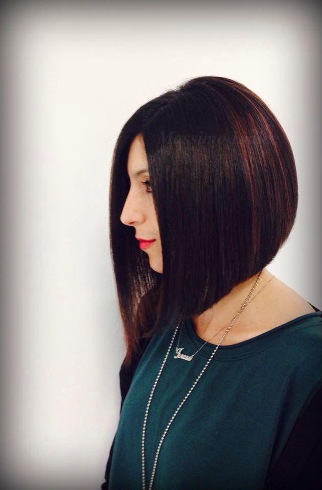 My work...! #massimoiodice #caserta #viamarchesiello #haircut #cut #bob #carrè #flamboyage #red #redpassion #chic #davines #purecolour