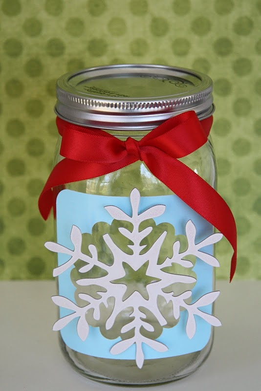 snowflake jar: Christmas Countdown, Canning Jars, Jars Crafts, Gifts Jars, Cute Idea, Countdown To Christmas, Countdown Idea, Masons Jars, Jars Gifts