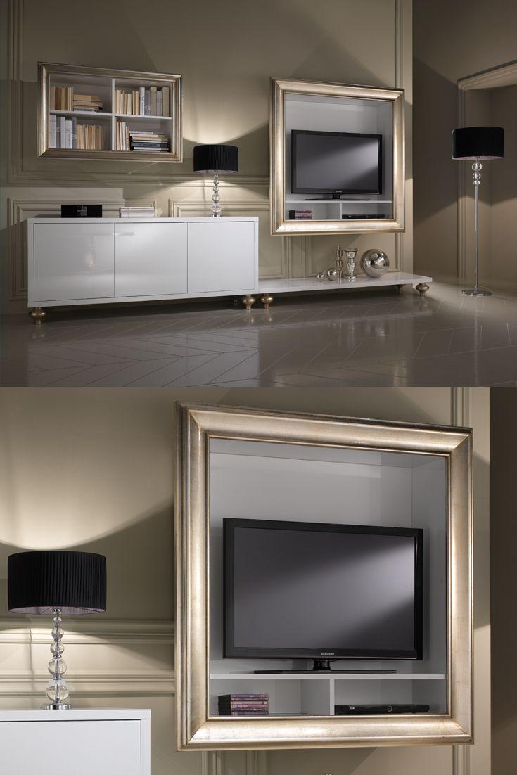 Italian Designer Lacquered Tv Media Sideboard Tv Unit Design