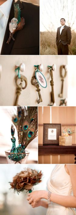 a beautiful cliche - Teal and Bronze Wedding
