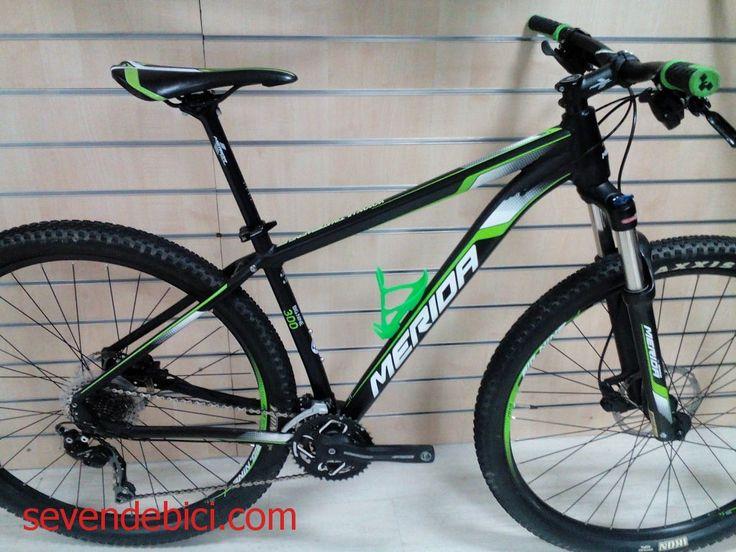 Bicicleta Merida Big Nine 300 ocasion 650 euros cuadro aluminio talla 17 rueda 29R, horquilla aire, cambio Shimano deore 10V, desviador y pulsadores deore, frenos Tektro, impecable estado, recién revisada.