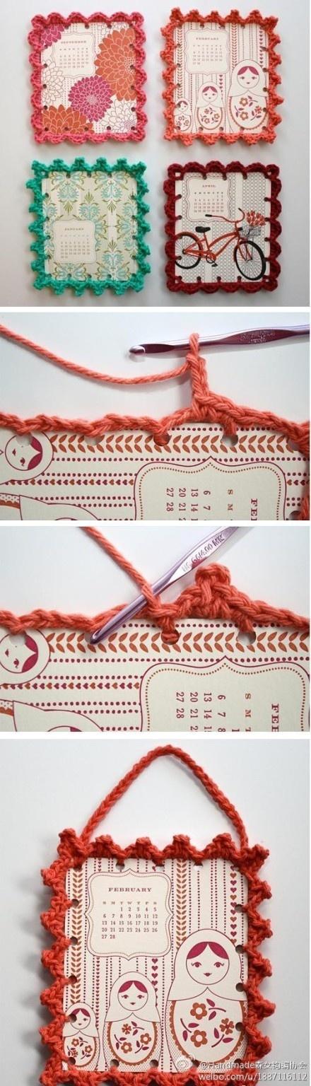 29 besten Crochet picture frame Bilder auf Pinterest | Bilderrahmen ...