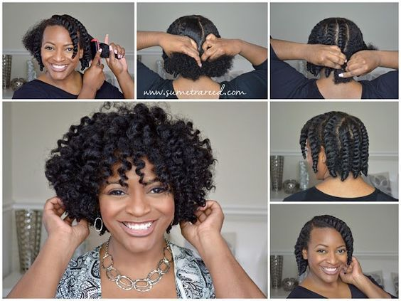 Easy Chunky Flat Twist-Out  Natural Hairstyles Tutorials