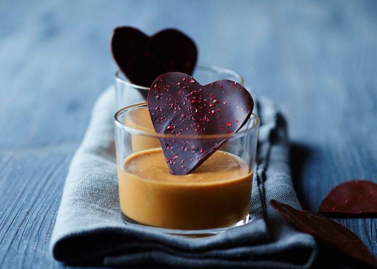 Nougatmousse med chokoladehjerte