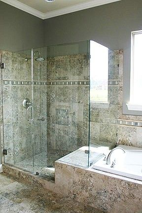 Must Have A Glass Shower With A Separate Jacuzzi Tub Dream Home Pinterest Shower
