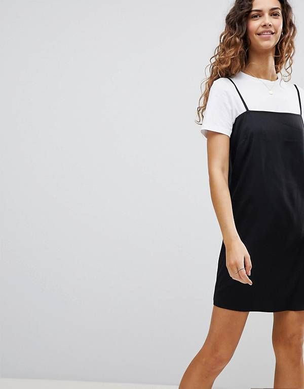 a2f0a90cd7 ASOS Square Neck Cami Slip Mini Dress | Work in 2019 | Latest ...