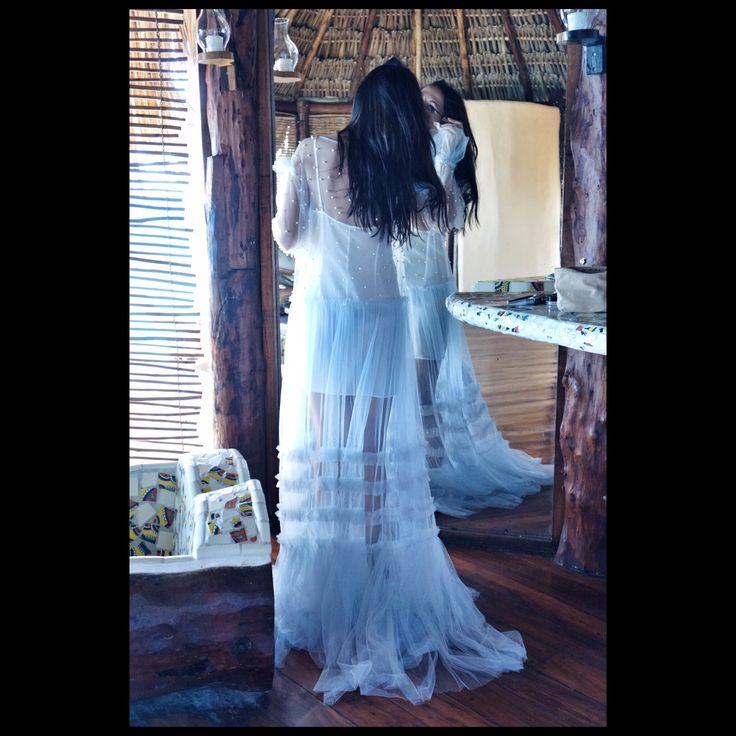 Dress with perls