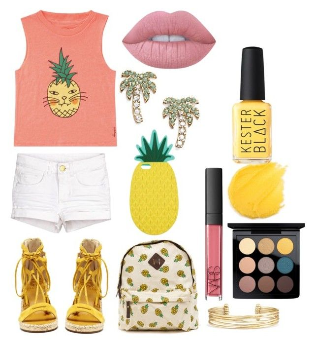 """""""Ana"""" by anastasiian-t ❤ liked on Polyvore featuring Billabong, Vince Camuto, Miss Selfridge, Kate Spade, Stella & Dot, NARS Cosmetics, MAC Cosmetics, Kester Black and Lime Crime"""
