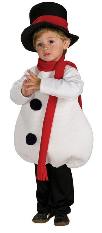 free instructions to make snowman costume for kids | Yuletide Snowman Costume for Toddlers HalloweenCostumes4u.com                                                                                                                                                                                 Más
