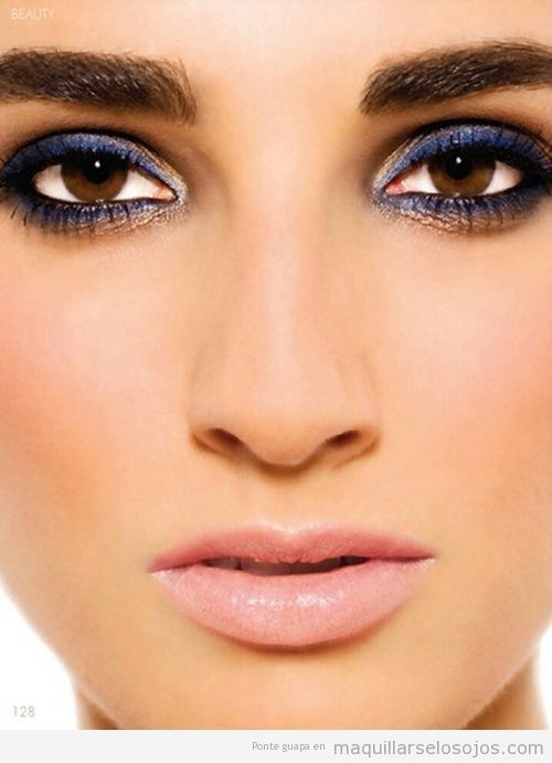 maquillaje con vestido azul , Buscar con Google
