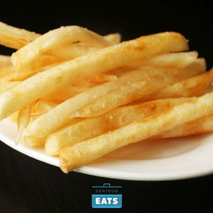 Cooked fries can be kept hot and crisp on a wire rack set on a sheet tray in a 200°F oven while second batch is cooked. Serve immediately.