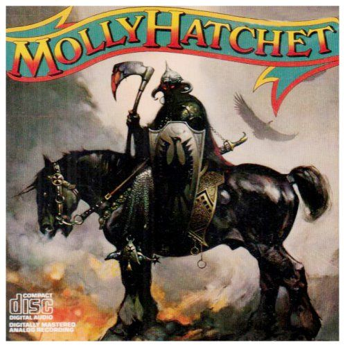"Named after a legendary Southern prostitute who allegedly beheaded and mutilated her clients, Jacksonville's Molly Hatchet meld loud hard rock boogie with guitar jam-oriented Southern rock. The first song of their self-titled debut album famously begins with the late Danny Joe Brown growling ""Hell yeah!"": Music, Mollyhatchet Rocks, Hard Rocks, Custom Marketing, 80S Remember, Eighti 80S, 38 Hundredths Inch, Debut Albums, Danny Joe"