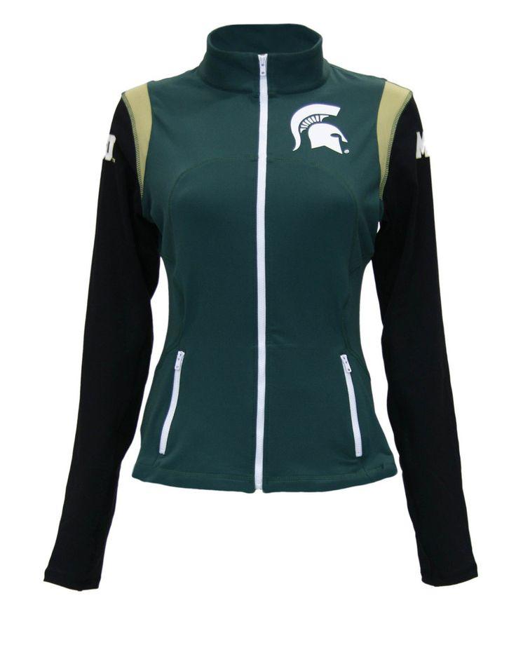 Michigan State Spartans Women's Yoga Jacket (Green)