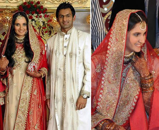 Many of our readers wrote in asking if we are going to do a post on Sania's wedding. She has been all over media for all kinds of reason, that we felt we would write once all the tamasha was over.  The tennis star and Pakistani cricketer Shoaib Malik married in a private Nikaah ceremony...