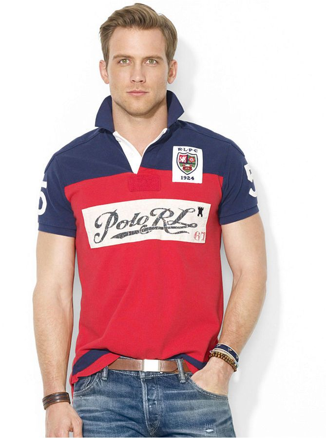 Polo Ralph Lauren Custom-Fit Color-Blocked Polo Shirt
