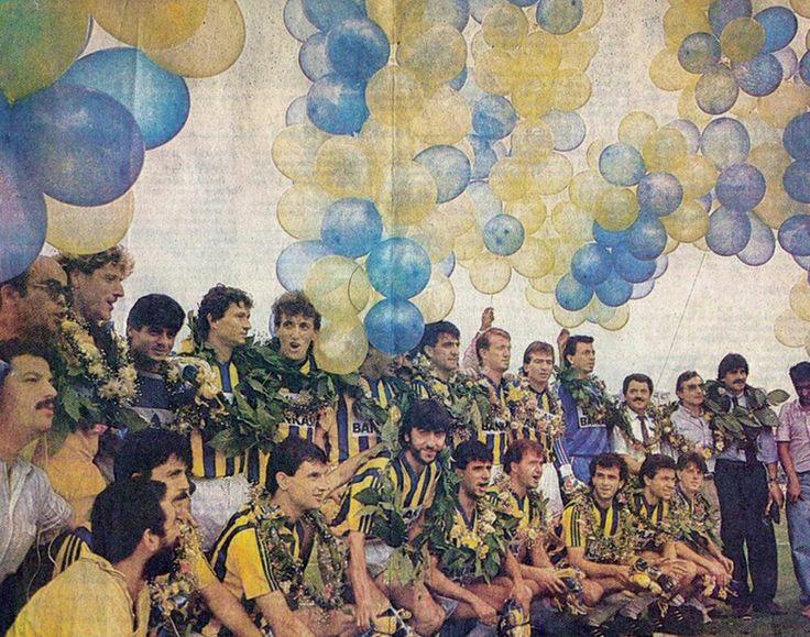 Fenerbahce players celebrate 89 League Trophy