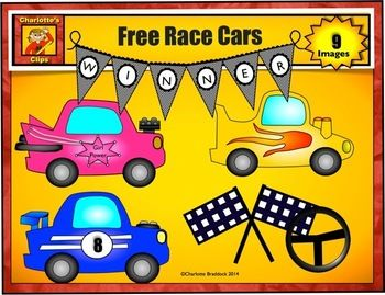 Here's a set of race car themed clip are for creating your own resources.