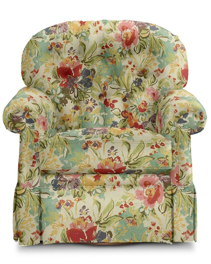 Small is the new big, and the Hampden swivel rocker is proof positive that a smaller scale chair can be big on comfort. Luxuriously cushioned with a curved, button-tufted back and smooth 360 degree swivel motion. Welted detail, pleated rolled arms and a kick-pleat skirt put the accent on style.
