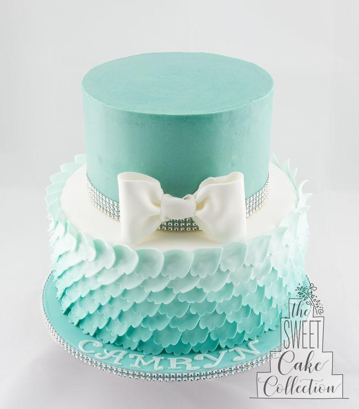 Fondant Ombre Ruffles Cake