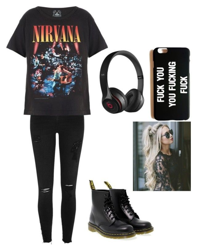 """Untitled #15"" by raven-blackk on Polyvore featuring River Island, Trunk LTD, Dr. Martens and Beats by Dr. Dre"