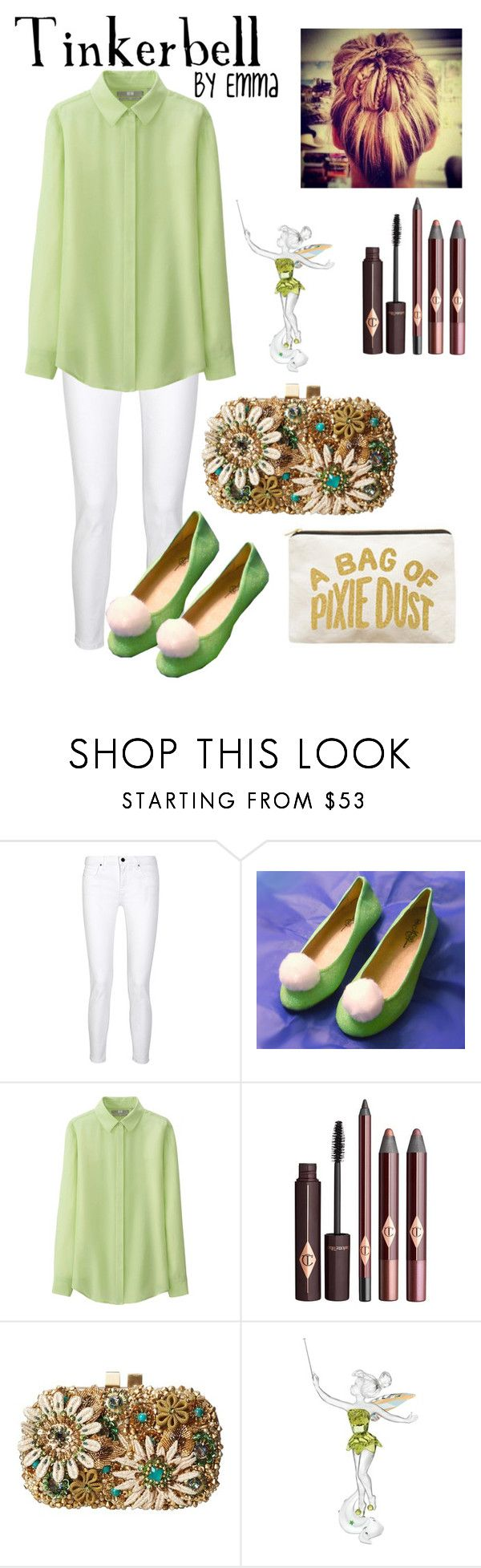"""""""Disney Designs"""" by disneyprincessemma ❤ liked on Polyvore featuring dVb Victoria Beckham, Uniqlo, Mary Frances Accessories, Swarovski and ALPHABET BAGS"""