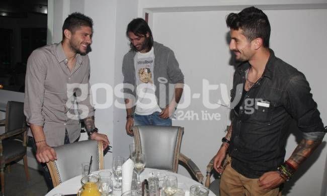 Michalis Sifakis, Georgios Samaras and Panagiotis Kone, Greece team