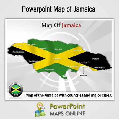 Jamaica is the largest English-speaking island in the Caribbean.Jamaica is the first Caribbean Country to gain Independence.Rum is the national drink of Jamaica.  http://www.powerpointmapsonline.com/powerpointmaps.aspx/Map-of-Jamaica-77