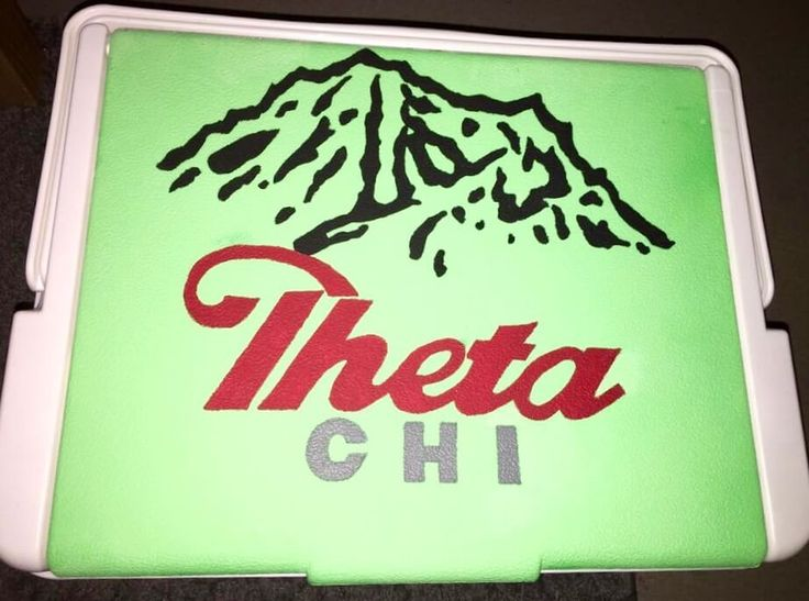 COOLERSbyU Painted Cooler Examples | Theta Chi Mountain Weekend  | Tags: theta chi, OX, fraternity, mountain weekend, coors light, painted-cooler