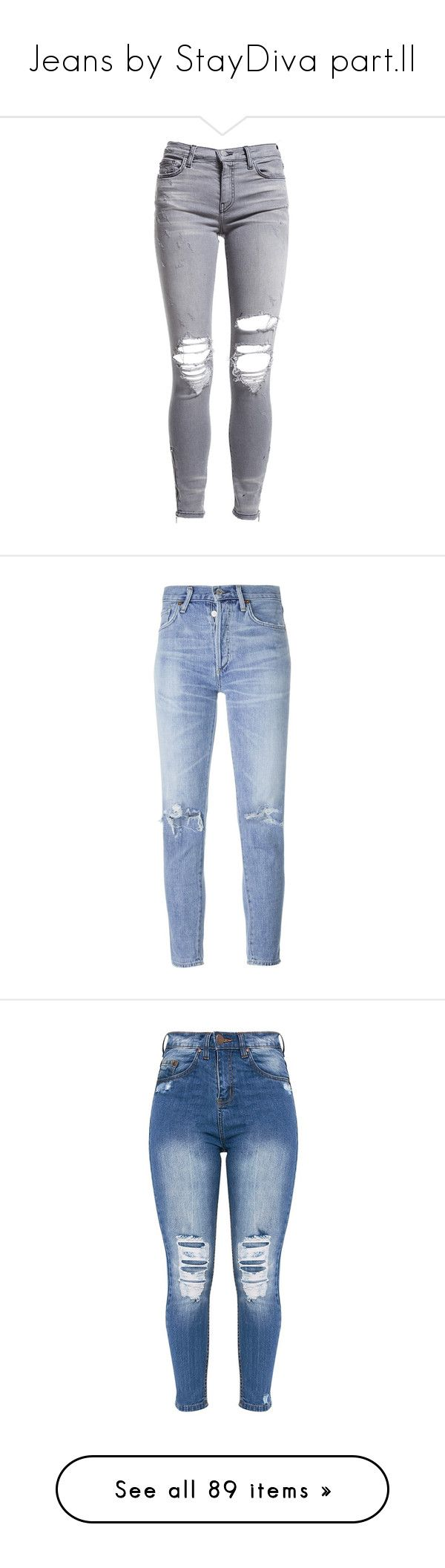 """""""Jeans by StayDiva part.II"""" by staydiva ❤ liked on Polyvore featuring jeans, pants, bottoms, pantaloni, grey, ripped jeans, ripped zipper jeans, zipper skinny jeans, cropped skinny jeans and cropped frayed jeans"""