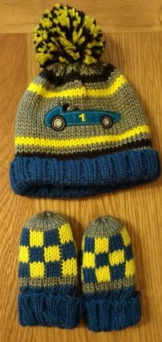 M&s baby boy winter #bobble hat and #gloves mittens 3-6 #months,  View more on the LINK: http://www.zeppy.io/product/gb/2/272527781621/