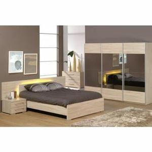Chambre adulte complète ALICIA-l 160 x L 200 cm - Achat / Vente lit complet Chambre adulte complète - Soldes* d'hiver dès le 6 janvier Cdiscount