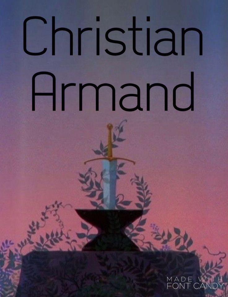 Boy name: Christian Armand. Christian soldier. Christian boy names.